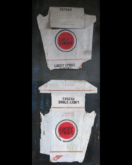 CIGARETTES II (LUCKY STRIKE) : PHILIPPE DARGENT - PEINTRE DESSINATEUR LIEGE