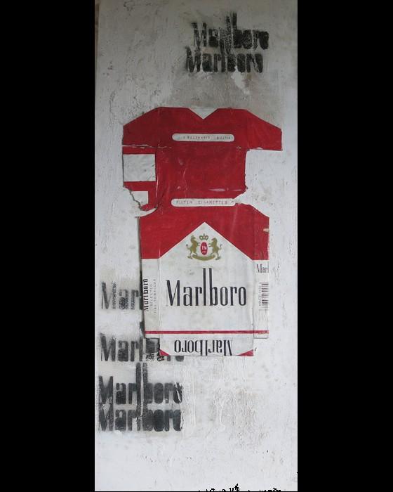 CIGARETTES III  (MARLBORO) : PHILIPPE DARGENT - PEINTRE DESSINATEUR LIEGE
