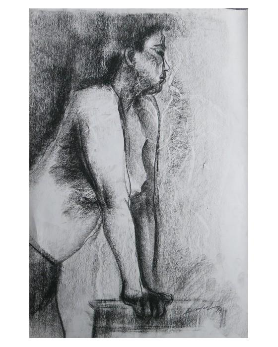 FEMME APPUYEE : PHILIPPE DARGENT - PEINTRE DESSINATEUR LIEGE