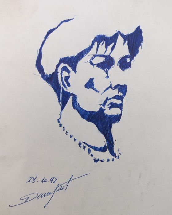 CROQUIS 28  1992 : PHILIPPE DARGENT - PEINTRE DESSINATEUR LIEGE