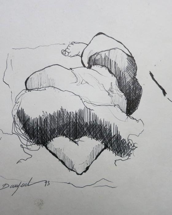 CROQUIS 65  1993 : PHILIPPE DARGENT - PEINTRE DESSINATEUR LIEGE