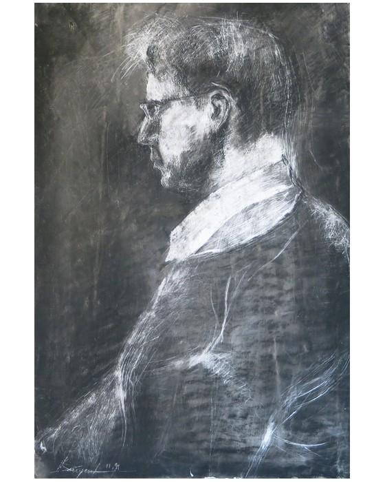 Portrait d'homme 1991 : PHILIPPE DARGENT - PEINTRE DESSINATEUR LIEGE