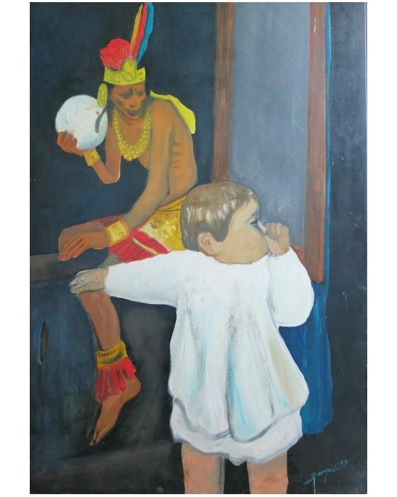SOUVENIR D'ENFANCE   2000 : PHILIPPE DARGENT - PEINTRE DESSINATEUR LIEGE