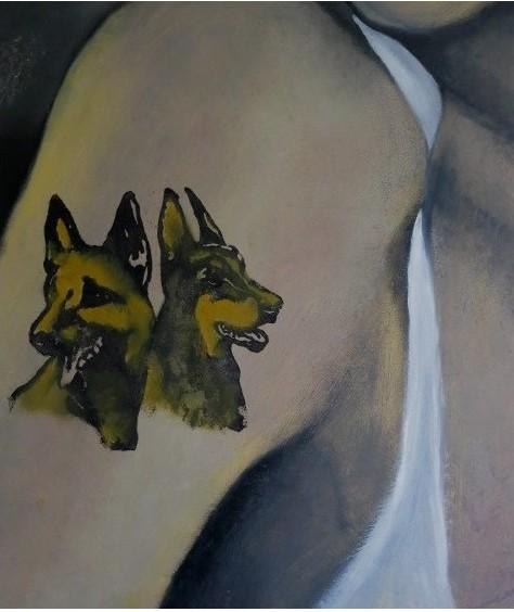 Tatouage III chiens : PHILIPPE DARGENT - PEINTRE DESSINATEUR LIEGE
