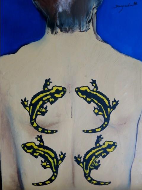 Tatouage VII  Salamandres II : PHILIPPE DARGENT - PEINTRE DESSINATEUR LIEGE