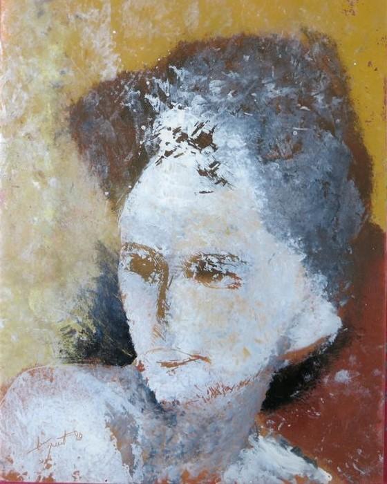 PORTRAIT DE FEMME II   1990 : PHILIPPE DARGENT - PEINTRE DESSINATEUR LIEGE
