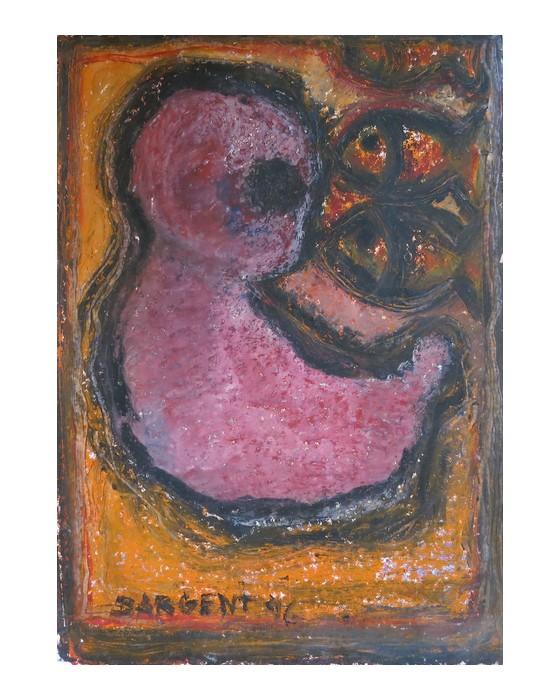 POISSONS ET ENFANT  1996 : PHILIPPE DARGENT - PEINTRE DESSINATEUR LIEGE